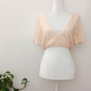 Urban Outfitters Crop Top Lace Blouse Shirt